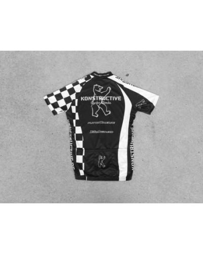 Konstructive Team Clothing, Mens Cycling Jersey, kurz, black and white style, Größe small