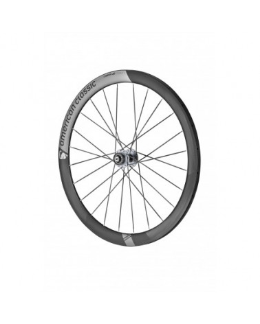 American Classic Carbon 46 Tubular Disc Road Wheels, stealth black