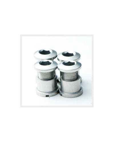 Middleburn Kettenblattschrauben, Alu, außen, 4 Stück, kurz, schwarz