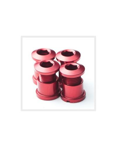 Middleburn Kettenblattschrauben, Alu, außen, 4 Stück, kurz, silber