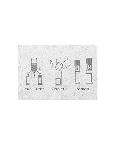 TRIPEAK Cadapter weißer Ventildeckel / Ventiladapter (Presta/Dunlop - Schrader), 1 Paar