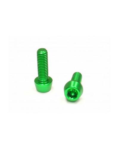 Aluminium Flaschenhalterschrauben M5x16, grün, 2 Stück