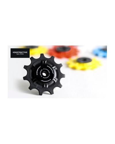 TRIPEAK Delrin Pulley Wheels with Ceramic Bearings, 11-Teeth, black