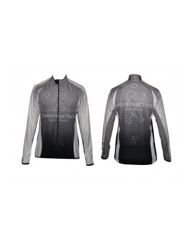 "Konstructive Clothing, mens cycling jersey, long sleeved, ""Team Nano Carbon"" style, Größe / size extra extra extra large"