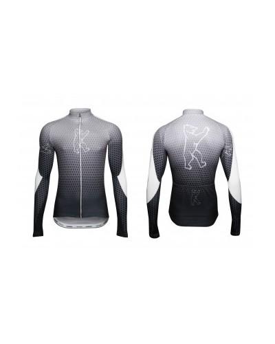 "Konstructive Clothing, mens cycling jersey, long sleeved, ""Nano Carbon"" style, Größe / size extra large"