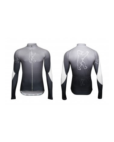 "Konstructive Clothing, mens cycling jersey, long sleeved, ""Nano Carbon"" style, Größe / size small"