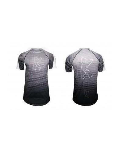 """Konstructive Clothing, Gravity Jersey, short sleeved, """"Nano Carbon"""" style, Größe / size small"""