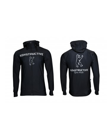 "Konstructive Clothing, womens Zip Up Hoodie ""Logo"" style, black, Größe / size large"