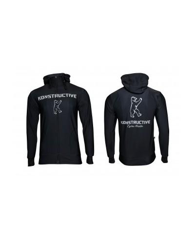 "Konstructive Clothing, womens Zip Up Hoodie ""Logo"" style, black, Größe / size extra large"