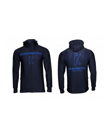 "Konstructive Clothing, womens Zip Up Hoodie ""Logo"" style, blue, Größe / size extra small"