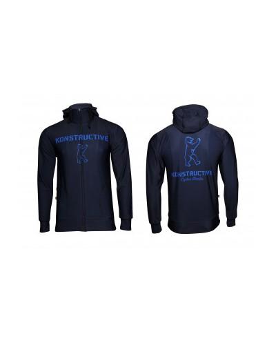 "Konstructive Clothing, womens Zip Up Hoodie ""Logo"" style, blue, Größe / size large"