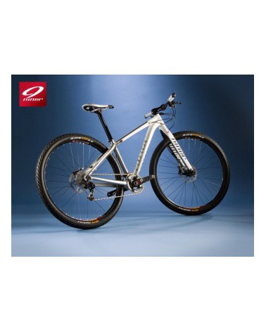 NINER Air 9 Aluminium, Large, White/Raw with SRAM X0, SR Suntour Axon, American Classic Wheels, Niner Components