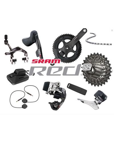 SRAM RED eTAP 2 x 11, rim brakes, shifters, drivetrain