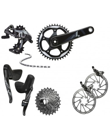 SRAM Force One, 1 x 11, disc brakes, shifters, drivetrain