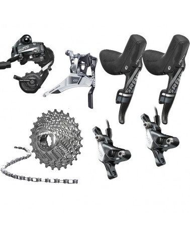 SRAM Force 22, 2 x 11, disc brakes, shifters, drivetrain