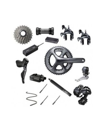 Shimano Ultegra DI2, 2 x 11, rim brakes, shifters, drivetrain