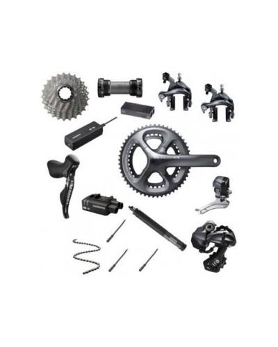 Shimano Ultegra DI2, 2 x 11, disc brakes, shifters, drivetrain