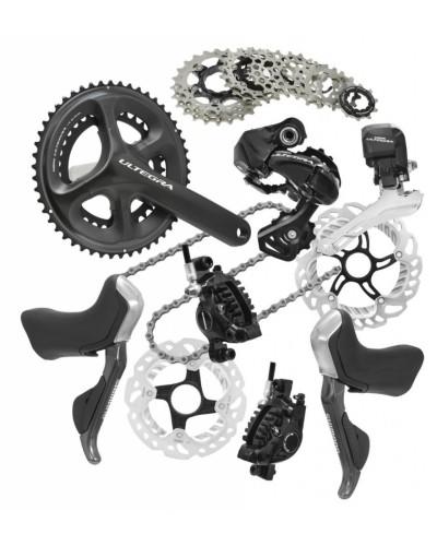 Shimano Ultegra, 2 x 11, disc brakes, shifters, drivetrain