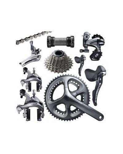 Shimano Ultegra, 2 x 11, rim brakes, shifters, drivetrain