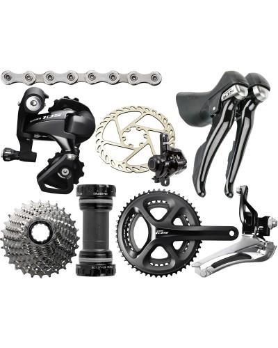 Shimano 105, 2 x 11, rim brakes, shifters, drivetrain