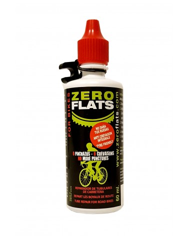 Zero Flats PLATTENKILLER Tubeless or Tubular Road Repair 60 ml