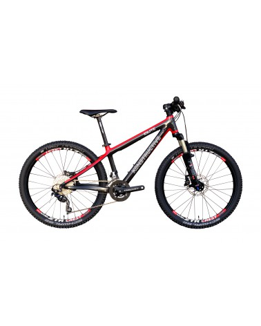 "KONSTRUCTIVE Iolite Kids, 24"", Carbon/Rot mit Shimano Deore, RST First 24 Air,  ZTR Crest Wheels"