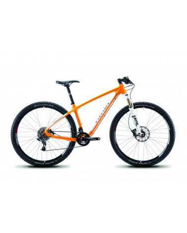 NINER Air 9 Carbon, Large, Orange/Weiß mit SunRace, Rock Shox SID WC, American Classic Wheels, Niner Komponenten