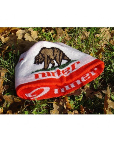 NINER Beanie, one size, white - red