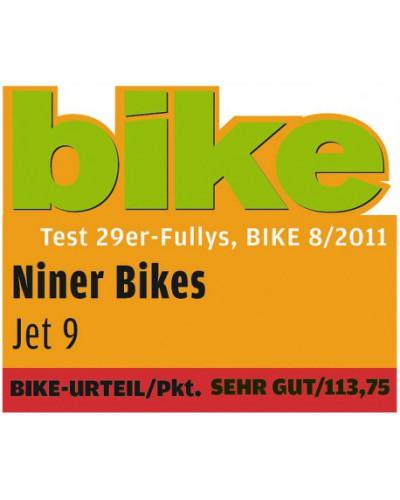 NINER JET 9, Aluminium, medium, schwarz eloxiert, 80 mm Federweg